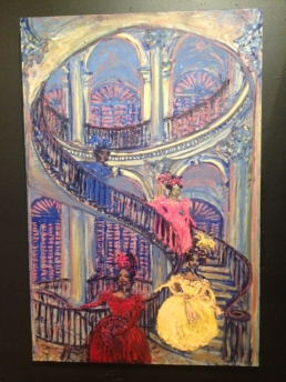 Madame Odille Presents Her Girls on the Grand Staircase by Jason London Hawkins