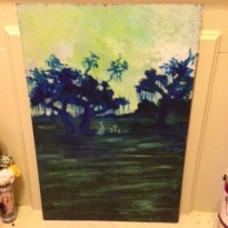 SOLD! Eulah's Lost Love LagoonAcrylic on canvasBy Christopher Morrison-Slave