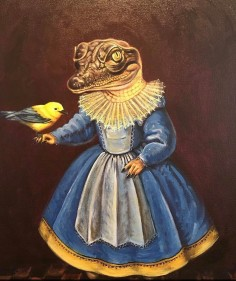"Gator Princess by Jane Talton 18""x 24"""