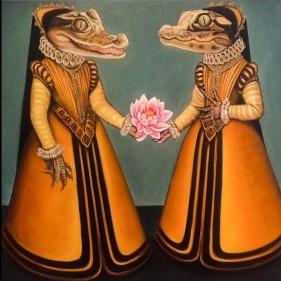 "Gator Girls by Jane Talton 26"" x 30"""